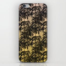 Leaf Shadows on Deck - nude2yellow iPhone Skin