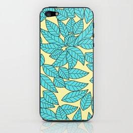 Leaves print iPhone Skin