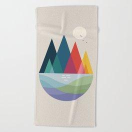 Somewhere Beach Towel