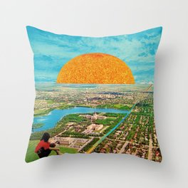 Stream of rainbow Throw Pillow