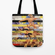 Glitch Pin-Up Redux: Courtney Tote Bag