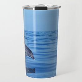Spotted dolphin jumping in the Atlantic ocean Travel Mug