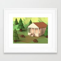 cabin Framed Art Prints featuring Cabin by CharismArt