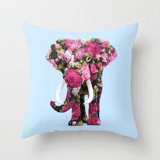 FLORAL ELPHANT Throw Pillow
