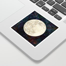 The Flower of Life Moon 2 Sticker