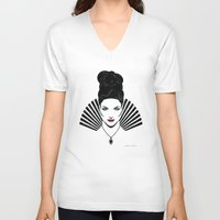 regina mills V-neck T-shirts featuring Iconic Regina by Arne AKA Ratscape