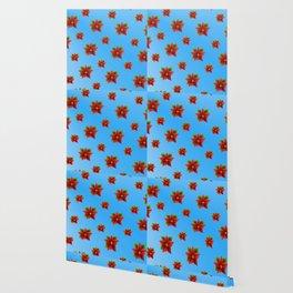 Red Flowers Pattern 2 Wallpaper