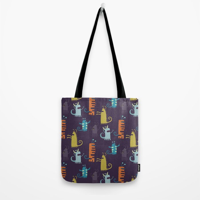 Secretly Vegetarian Monsters Tote Bag