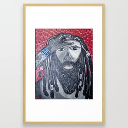 Warrior In Thought Framed Art Print