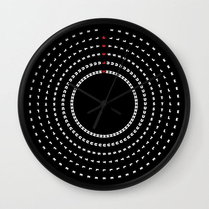 24/7 Hustle - Black Alt Wall Clock