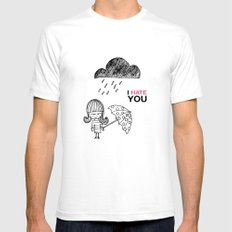 I Hate You / Rain Mens Fitted Tee SMALL White