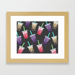 Bubble Tea Party Framed Art Print