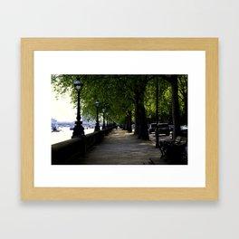 Strong Along the Thames Framed Art Print