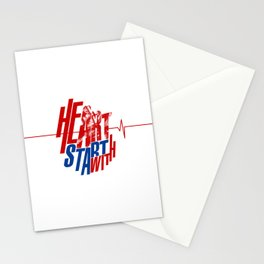 Heart start with Art Stationery Cards