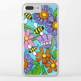 Springtime Series #4 Bee's Clear iPhone Case