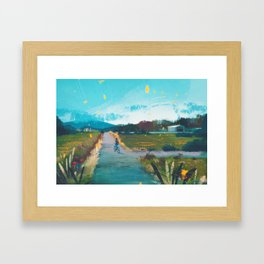 Route 5 - Kanto in real life Framed Art Print