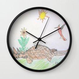 Gharial Buddy Wall Clock