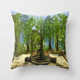 Rittenhouse Square in the Spring Throw Pillow