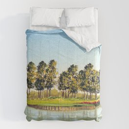 Sawgrass TPC Golf Course 17th Hole Comforters