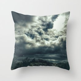 Thunder is coming Throw Pillow