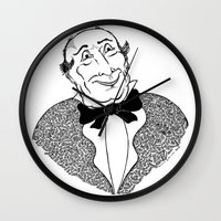 gentleman Wall Clocks featuring Gentleman by Addison Karl
