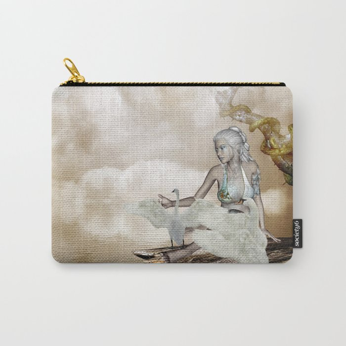 Fairy and the swan Carry-All Pouch