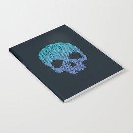 Labyrinthine Skull - Neon Notebook
