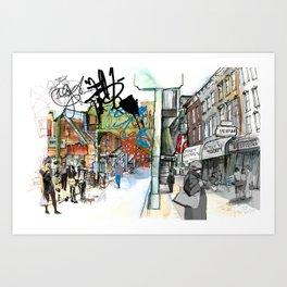 Broadway, the Divide Art Print