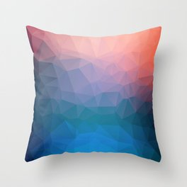 Abstract colorful triangles background Throw Pillow