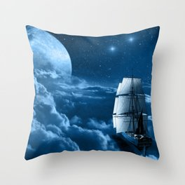Second Star to the Right Throw Pillow