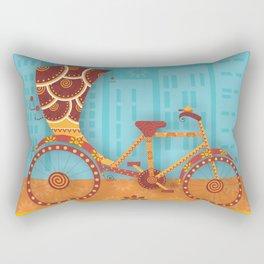 Unique Indian Vehicle - Cycle Rickshaw Rectangular Pillow