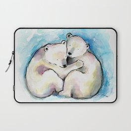 Polar Bear Cubs Watercolour Laptop Sleeve