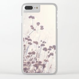 Wintry Hillside Plants Clear iPhone Case