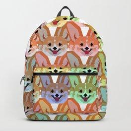 Multicolor Cardigan Corgi Face Pattern - version two Backpack