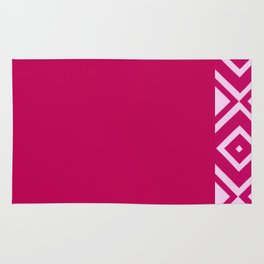 Pink Diamonds Rug