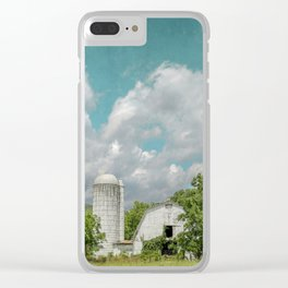 White Barn and Blue Sky Clear iPhone Case