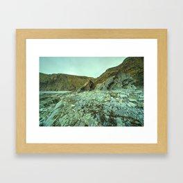 Hartland Geology  Framed Art Print