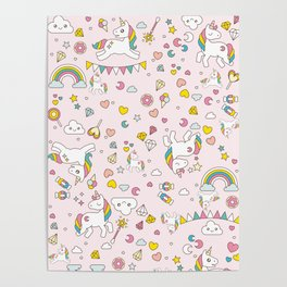 Unicorn Pattern Poster