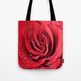 Red Swirl Rose Tote Bag