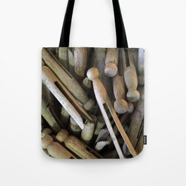 When Pins Were for Laundry, Not Images Tote Bag