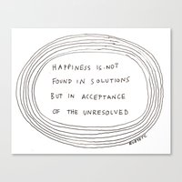 happiness Canvas Prints featuring happiness by rubyetc