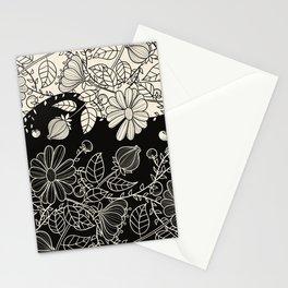FLOWERS EBONY AND IVORY Stationery Cards