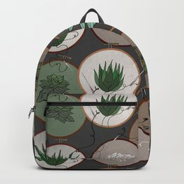 Succulent Embroidery Hoops Backpack