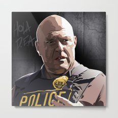 Breaking Bad Illustrated - Hank Schrader Metal Print