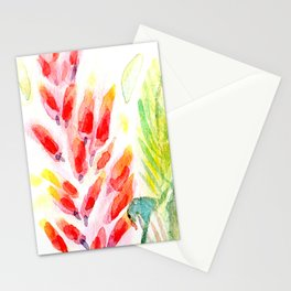 Bali Breeze Watercolor Floral Stationery Cards