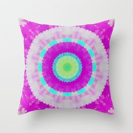 Fuchsia Magic Mandala Throw Pillow