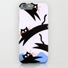 Cats Hopping Around iPhone Case