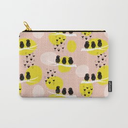 The Finch Clique - Peach Carry-All Pouch