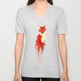 The fox, the forest spirit Unisex V-Neck