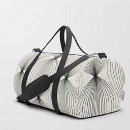 Geometric Orb Pattern - Black Duffle Bag